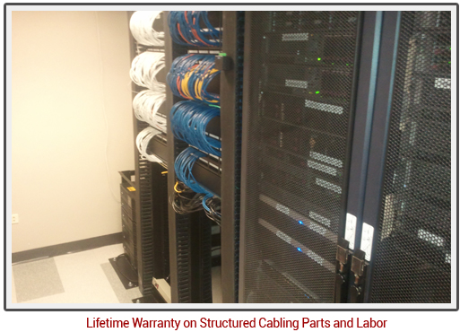 An example of our network cabling services in Denver, CO or Phoenix, AZ